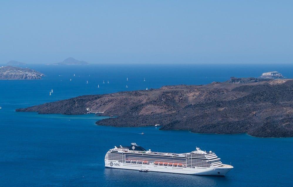 MSC Croisières vers Santorin