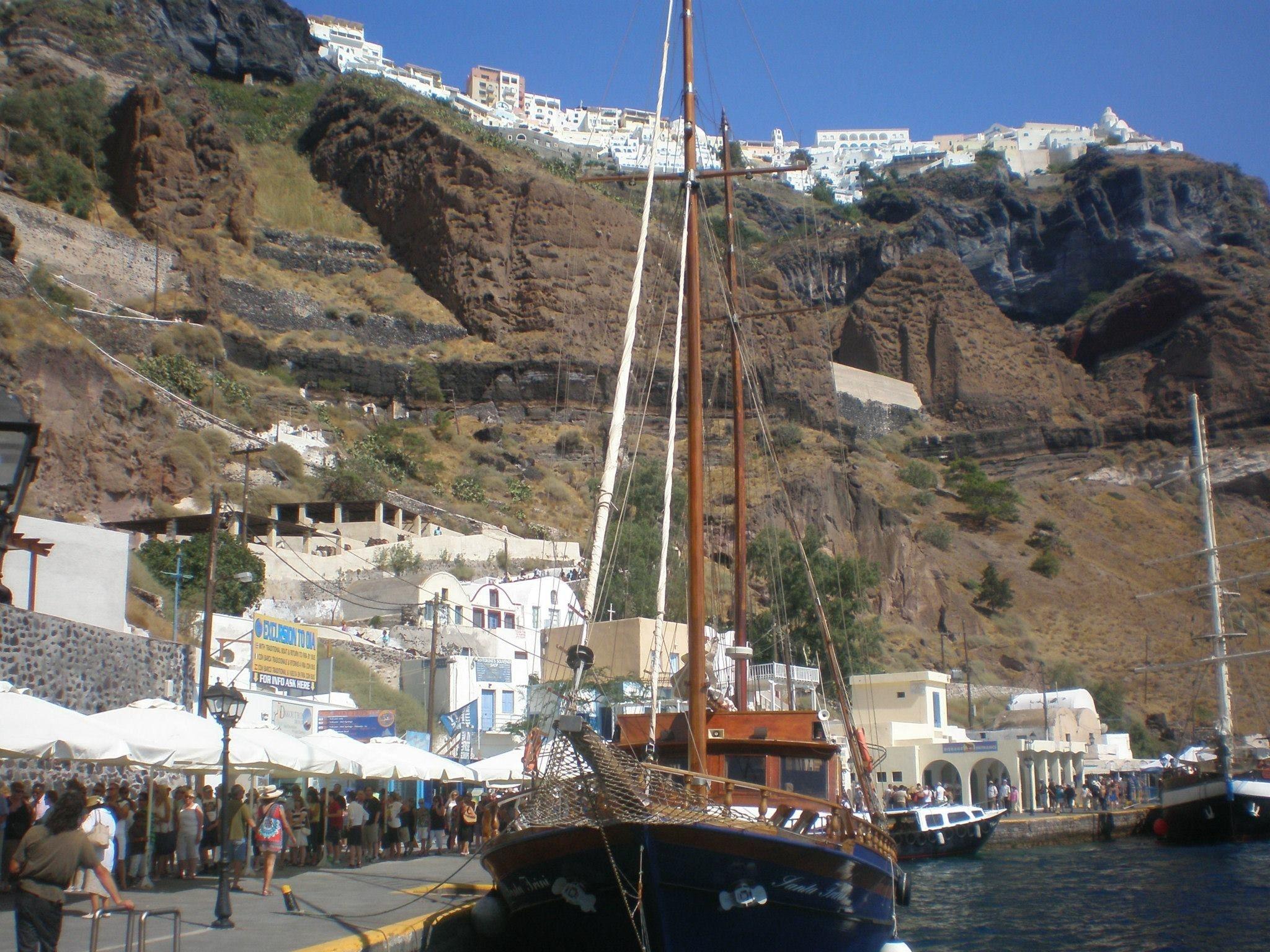Les ports de Santorin