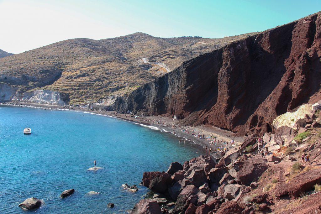 La vue sur la mer à Akrotiri