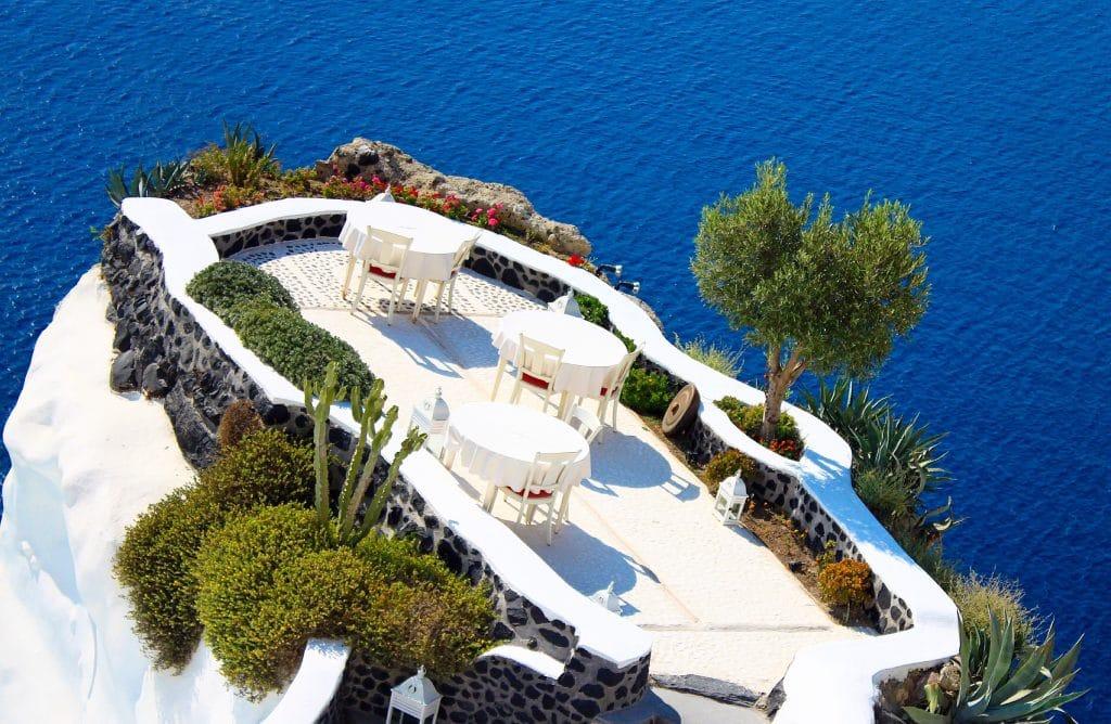 Dîner dans les plus beaux restaurants de Santorin