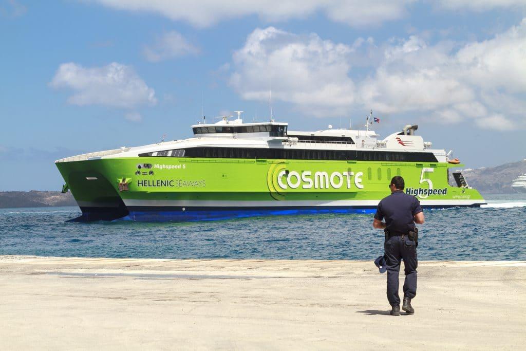 Comment se rendre au port d'Athinios ?